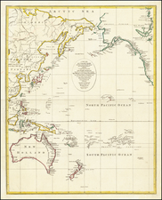 Pacific Ocean, Alaska, Hawaii, Australia, Oceania and Hawaii Map By John Lodge