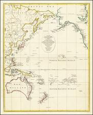 Pacific Ocean, Alaska, Hawaii, Australia, Oceania and Hawaii Map By John Lodge
