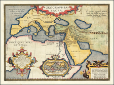 Geographia Sacra (Modern World Map Inset) By Abraham Ortelius
