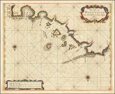 Central America and South America Map By Arent Roggeveen / Jacobus Robijn