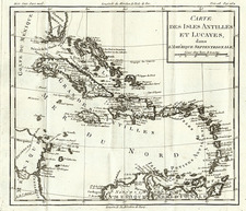 Southeast and Caribbean Map By Louis Brion de la Tour