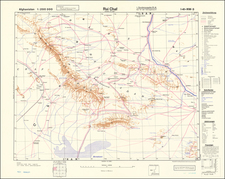 Central Asia & Caucasus and World War II Map By General Staff of the German Army