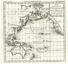 Alaska, Hawaii, Australia & Oceania, Oceania and Hawaii Map By Louis Brion de la Tour
