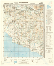 World War II and Greece Map By General Staff of the German Army