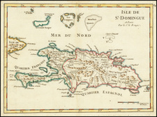 Isle De St. Domingue . . . [with Turks & Caicos] By George Louis Le Rouge