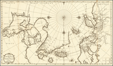Polar Maps, Scandinavia, Iceland and Canada Map By J.F. Bernard