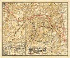 Colorado, Rocky Mountains and Colorado Map By Denver & Rio Grande RR