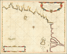 Central America Map By Arent Roggeveen / Jacobus Robijn