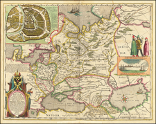 Poland, Russia, Ukraine, Baltic Countries and Russia in Asia Map By Willem Janszoon Blaeu