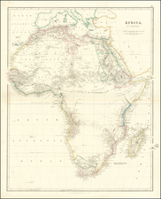 Africa Map By John Arrowsmith