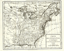 United States, Southeast, Midwest and Plains Map By Louis Brion de la Tour