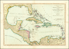 South, Southeast, Caribbean and Central America Map By Samuel Dunn