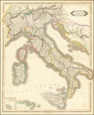 Italy Map By William Home Lizars