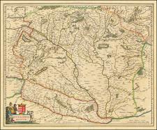 Hungary Map By Willem Janszoon Blaeu / Johannes Blaeu