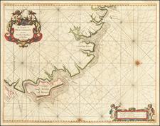 Brazil Map By Arent Roggeveen / Jacobus Robijn
