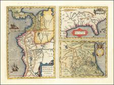 La Florida [with] Guastecan [with] Peruviae Auriferae Regionis Typus By Abraham Ortelius