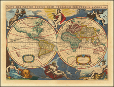 World Map By Pieter van der Aa