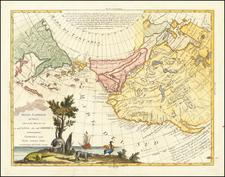 Rocky Mountains, Alaska, North America, Pacific, California and Canada Map By Antonio Zatta