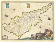 Cyprus Map By Willem Janszoon Blaeu