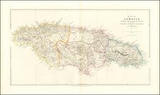 Jamaica Map By John Arrowsmith