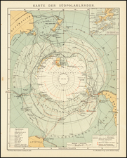 Polar Maps Map By Friedrich Arnold Brockhaus