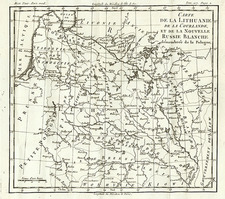 Europe, Poland, Russia and Baltic Countries Map By Louis Brion de la Tour