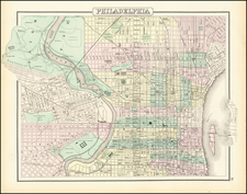 Philadelphia Map By O.W. Gray