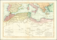 Mediterranean and North Africa Map By Laurie & Whittle / Samuel Dunn