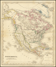Texas and North America Map By John Dower