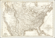 United States Map By Pierre  Alexandre Tardieu