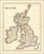 Europe and British Isles Map By Daniel Lizars