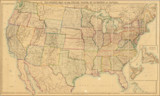 Stanford's Map of the United States and Part of the Dominion of Canada By Edward Stanford