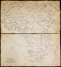 Africa and World War II Map By Lehrmittel-Verlag