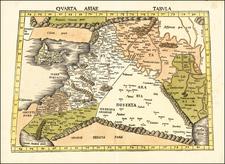Quarta Asiae Tabula  [Shows Cyprus] By Martin Waldseemüller