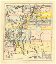 New Mexico Map By Whiteman, Hicks & Whiteman