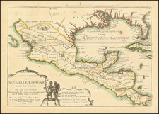South, Texas, Southwest, Mexico and Central America Map By Nicolas de Fer