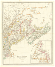 New England, Maine, Canada and Eastern Canada Map By John Arrowsmith