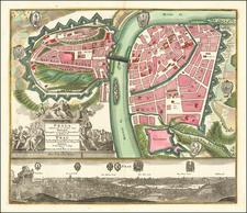 Czech Republic & Slovakia Map By Matthaus Seutter