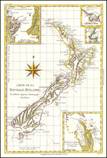 Carte De La Nouvelle Zeelande . . .  By Rigobert Bonne