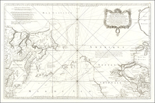 Polar Maps, Alaska, Pacific and Canada Map By Jacques Nicolas Bellin