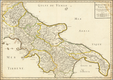 Southern Italy Map By Nicolas Sanson