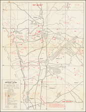 Japan and World War II Map By G-2 Section, 7th Division