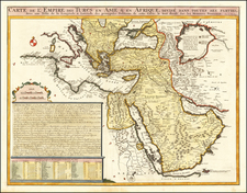 Turkey, Middle East and Turkey & Asia Minor Map By Henri Chatelain