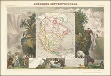Amerique Septentrionale   By Victor Levasseur