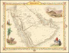 Middle East and Arabian Peninsula Map By John Tallis