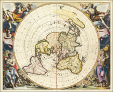 World and Polar Maps Map By Pieter van der Aa
