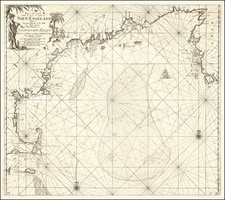 New England, Canada and Eastern Canada Map By Johannes Van Keulen