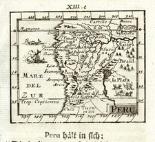 South America Map By Johann Ulrich Muller