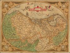 Descriptio Germaniae Inferioris By Abraham Ortelius