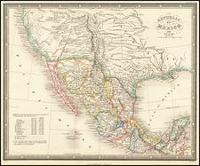 Texas, Plains, Southwest, Rocky Mountains, Mexico and California Map By James Wyld